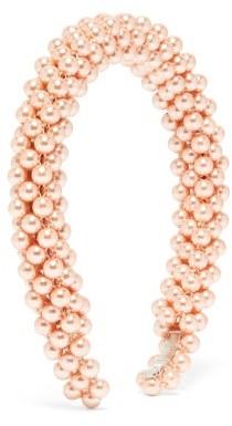 Shrimps Antonia Faux-pearl Headband - Womens - Pink