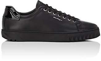 Salvatore Ferragamo Men's Cube Leather Sneakers - Black