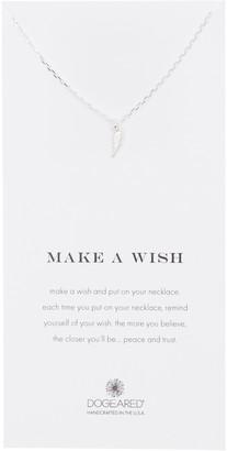 Dogeared Sterling Silver Make A Wish Lightning Bolt Pendant Necklace