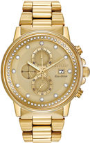 Citizen Eco-Drive Nighthawk Mens Gold-Tone Chronograph Watch FB3002-53P