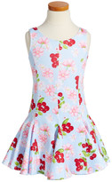 Kate Mack Cherry Print Scuba Dress (Toddler Girls & Little Girls)