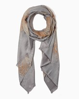 Charming charlie Paisley Leopard Jacquard Scarf