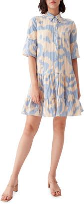 Beata Cotton-Jacquard Mini Dress