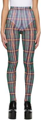 Chopova Lowena Multicolor Tartan Leggings