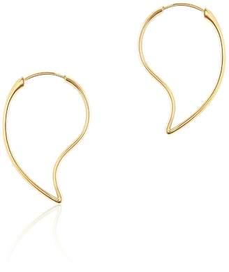 Birks Petale Yellow Gold Hoop Earrings