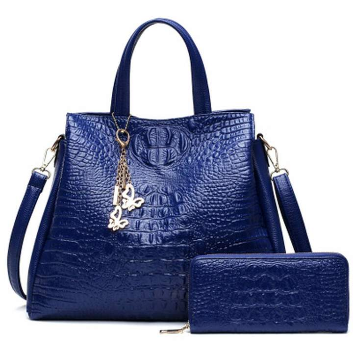 a602c84063f9 Memoriesed 2018 Alligator 2 PC Purses Handbag Luxury Handbags Women Bags  Large Tote Bags For Women Brand Ladies Crossbody Bag Sac A Main