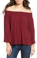 Ten Sixty Sherman Smocked Off the Shoulder Blouse