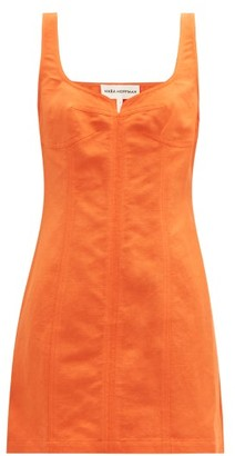Mara Hoffman Anita Sweetheart-neckline Linen-blend Mini Dress - Orange