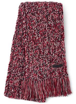 Prada Fringed Knitted Scarf