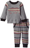 Splendid Littles Long Sleeve Raglan with Stripe Pants Set (Infant)