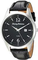 Tommy Bahama Men's Quartz Stainless Steel and Leather Casual Watch, Color:Black (Model: TB00015-01)