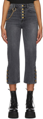 Sjyp Black Side Button Jeans