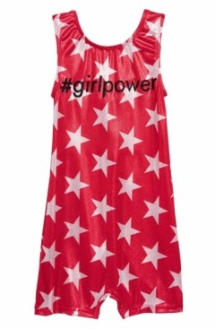 Girl Power Sport Little Girls Star Sparkle Girl Power Biketard One Piece