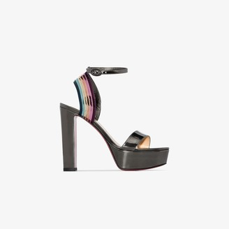 Christian Louboutin multicoloured Arkendisc 130 platform patent leather sandals