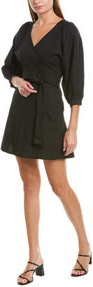 Rosewater Remi Tie-Waist Linen-Blend Mini Dress