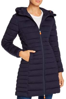 Save The Duck Hooded Long Puffer Coat - 100% Exclusive