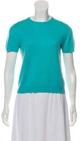 Henri Bendel Cashmere Short Sleeve Top