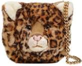 Dolce & Gabbana Leopard Plush & Embossed Leather Bag