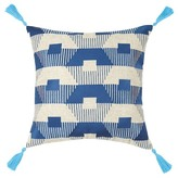 Trina Turk 20x20 Torrance Neon Embroidered Pillow - Blue