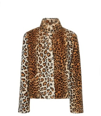 Dorothy Perkins Womens Only Faux Fur Leopard Print Cropped Coat