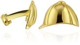 Torrini Hat 18K Yellow Gold Cufflinks