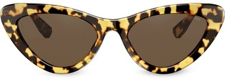 Miu Miu Tortoiseshell Cat-Eye Frame Sunglasses