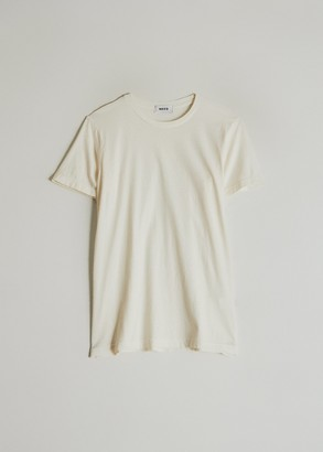 Need Women's Short Sleeve Dye T-Shirt in Ivory, Size Extra Small | 100% Cotton