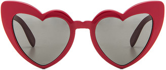 Saint Laurent Lou Lou Heart Sunglasses in Red | FWRD