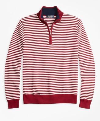 Brooks Brothers Yacht Stripe Half-Zip Sweater