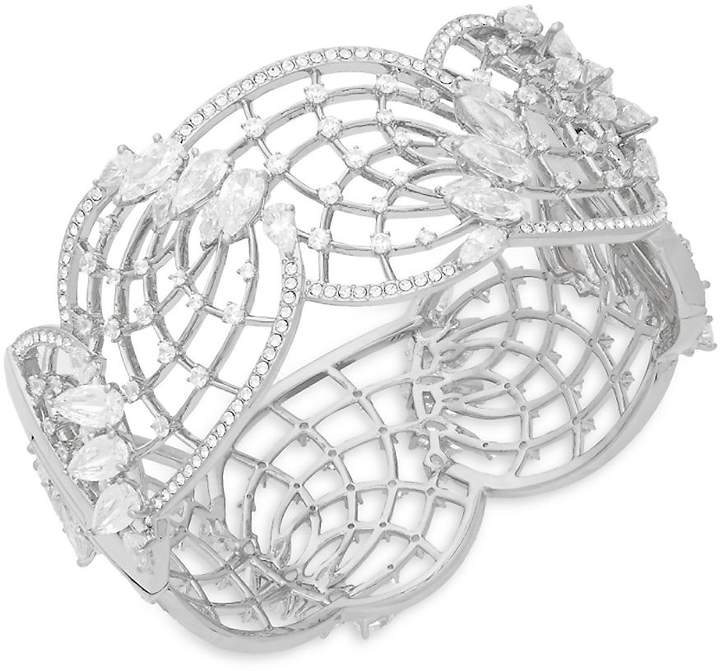 Adriana Orsini Women's Crystal Lattice Hinge Bracelet