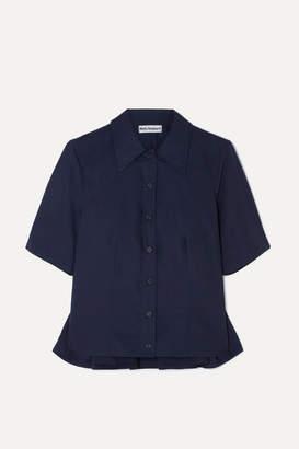 Molly Goddard Jean Cotton-poplin Shirt - Navy