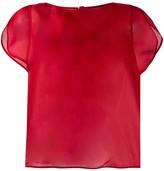 Giorgio Armani sheer short sleeve top