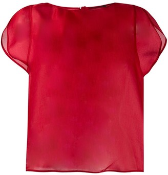 Giorgio Armani Sheer Short Sleeve Top