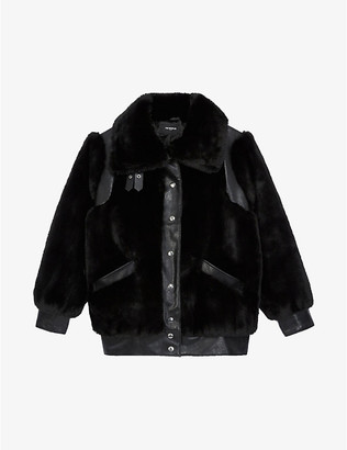The Kooples Collared faux-fur coat