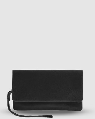 Cobb & Co - Women's Black Wallets - Albury Soft Leather Fold Over Wallet - Size One Size at The Iconic