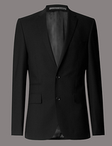 Autograph Big & Tall Pure Wool Tailored Fit 2 Button Stretch Jacket With Buttonsafetm