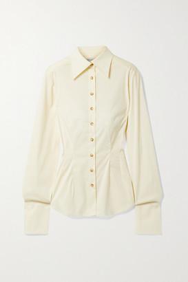 ANNA QUAN Cecilia Cotton-blend Poplin Shirt