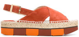 Paloma Barceló Lynde sandals - women - Leather/Suede/Straw/rubber - 36