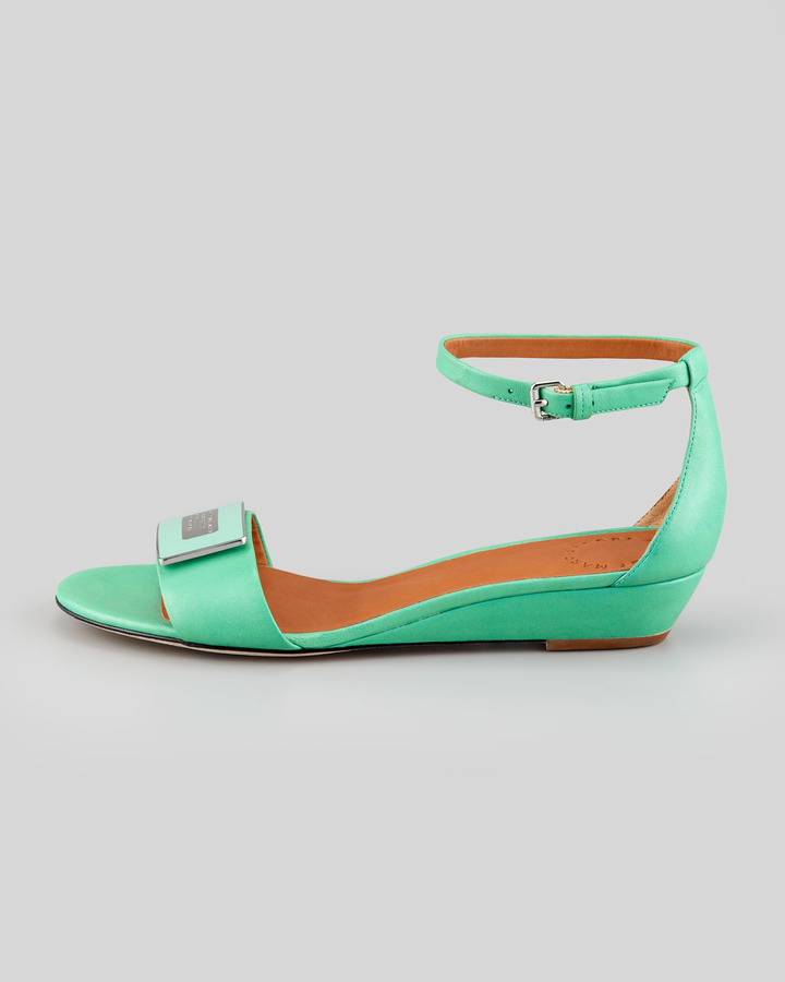 Marc by Marc Jacobs Logo Plaque Wedge Sandal, Jade
