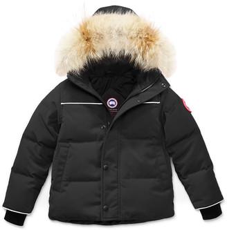 Canada Goose Kids' Snow Owl Parka w/ Removable Fur Trim, Size 2T-7