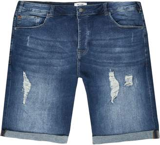 River Island Mens Only & Sons Big and Tall denim shorts