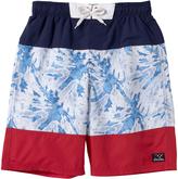 Big Chill Light Blue Color Block Board Shorts - Boys