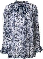 See by Chloe floral print flute sleeve blouse