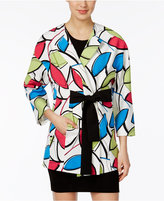 Nine West Printed Wrap Topper Jacket