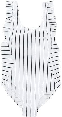 Karl Lagerfeld Paris Striped One-Piece Swimsuit