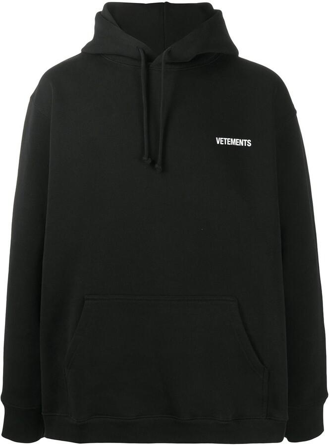 Vetements Long Sleeve Logo Hoodie