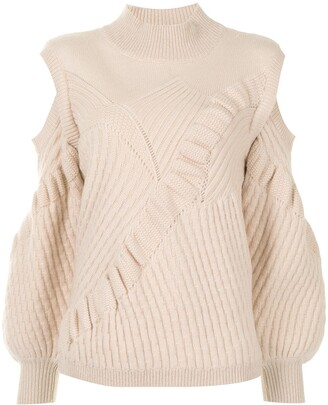 Alexis Panelled-Knit Cut-Out Jumper