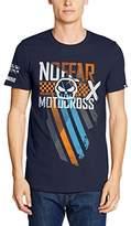 No Fear Men's Check Short Sleeve T-Shirt