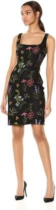 Nicole Miller Women's Sleeveless Embroidered Sheath Dress