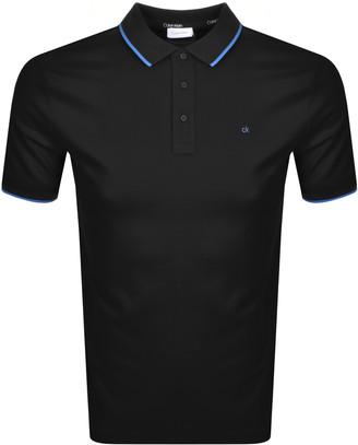 Calvin Klein Short Sleeved Polo T Shirt Black